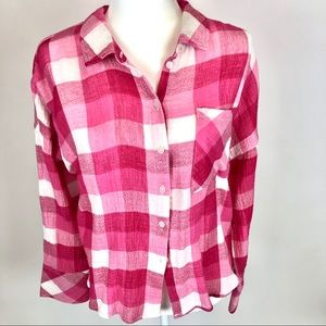 SANCTUARY Button Down Checked Shirt